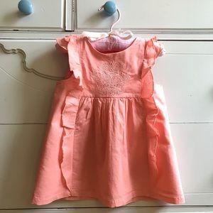 Emma's Garden peachy pink dress sz 24m, cotton
